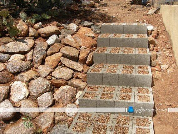 ساخت پله در فضای باز / عکس