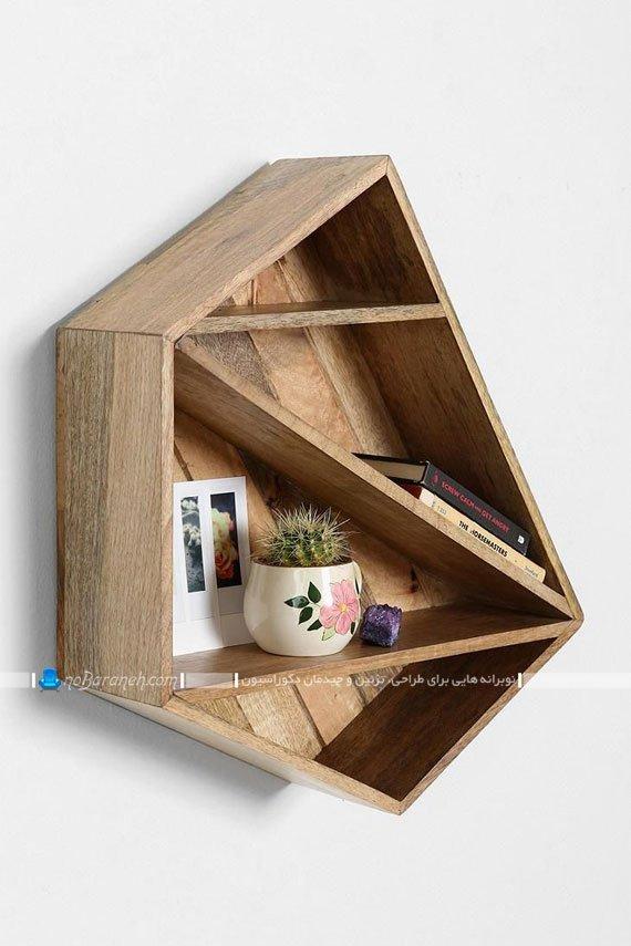 مدل های جدید و ساده شلف چوبی دیواری