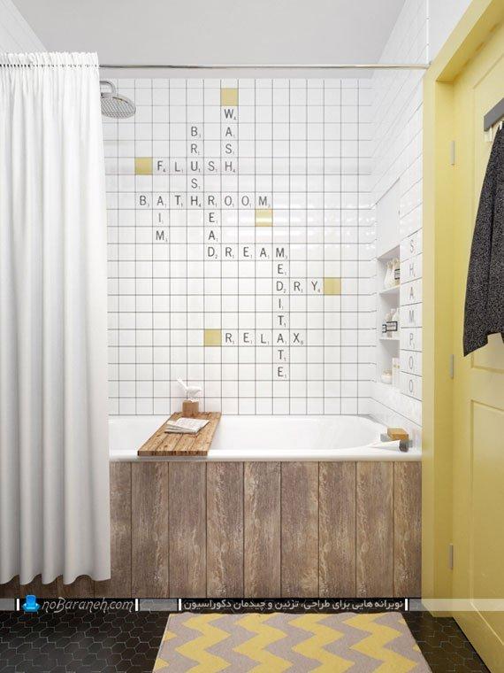 مدل های جدید کاشی دیواری حمام و دستشویی