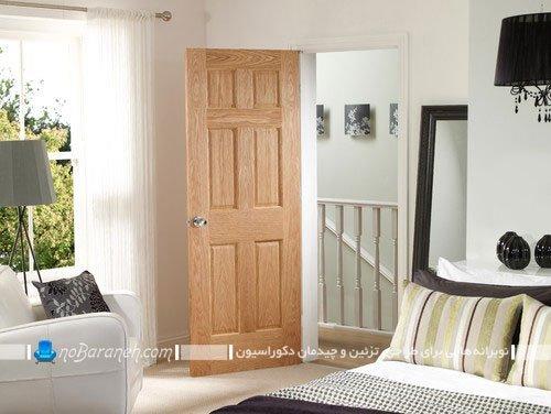 درب چوبی دکوراسیون داخلی ، با طرح و مدل ساده