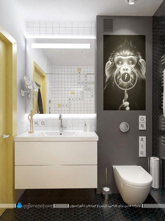 طراحی و تزیین شیک دکوراسیون حمام و سرویس بهداشتی