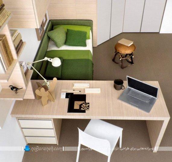 میز تحریر و کامپیوتر با طراحی شیک وسنگین