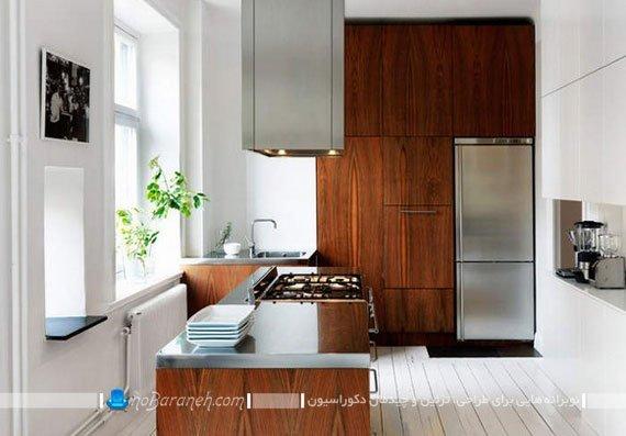 دیزاین و تزیین دکوراسیون آشپزخانه با کابینت ام دی اف