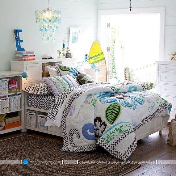 دیزاین شیک اتاق نوجوان دختر با سرویس خواب کلاسیک