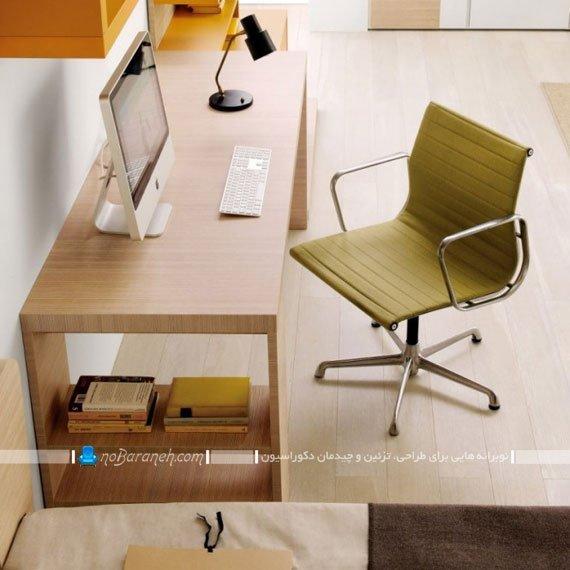 میز تحریر چوبی شیک و ظریف و ساده