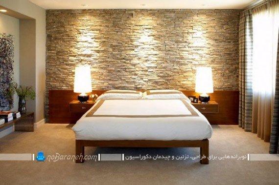 دیوارپوش سنگی و دکوراتیو اتاق خواب