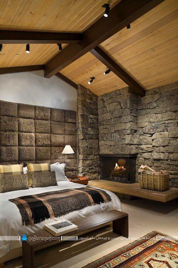 دیوارپوش سنگی اتاق خواب