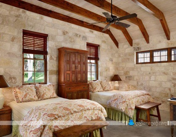دیوارپوش پلیمری و فایبرگلاس اتاق خواب