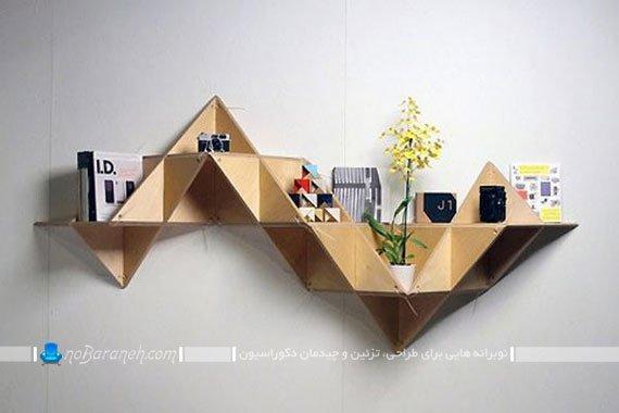 شلف و طاقچه دیواری و چوبی چند وجهی