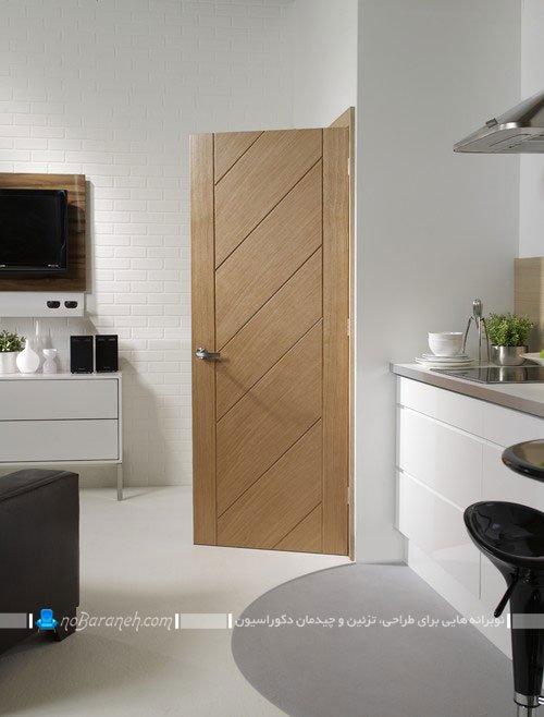 در چوبی آشپزخانه با طرح و مدل شیک و ساده و زیبا
