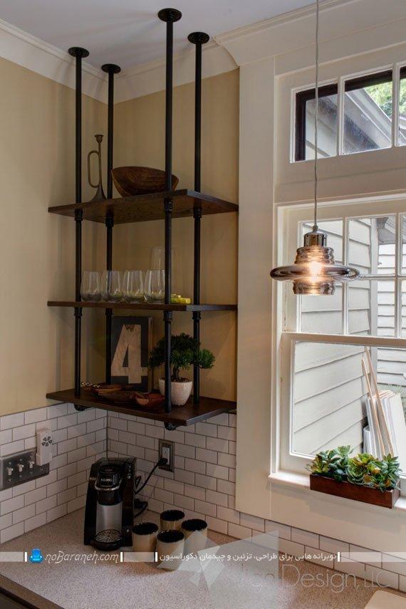 قفسه بندی دیوارهای آشپزخانه