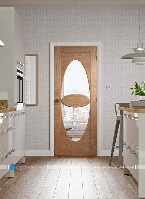 در شیشه ای، چوبی و مدرن آشپزخانه