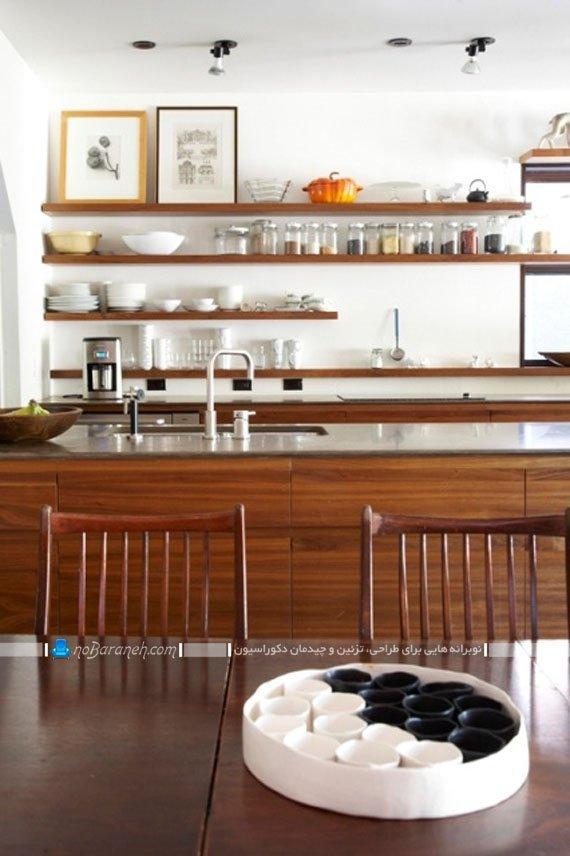 شلف آشپزخانه با ورق ام دی اف