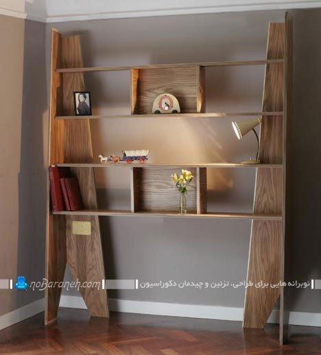 مدل جدید کتابخانه چوبی خانگی