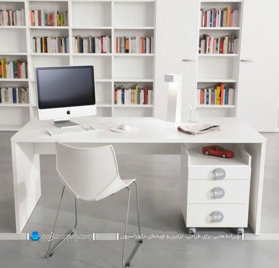 میز تحریر و کامپیوتر با کشوهای سوا و قابل جابجایی