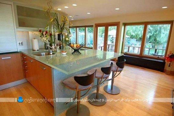 میز اپن شیشه ای و مدرن