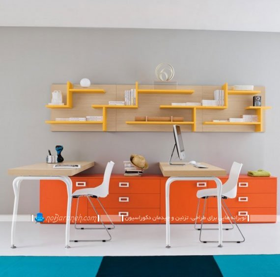 میز تحریر دوقلو برای اتاق نوجوانان دختر