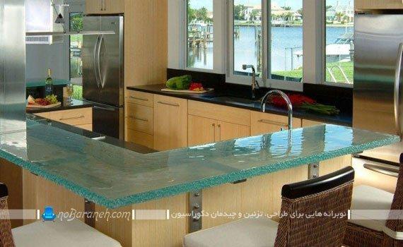 مدل اپن شیشه ای آشپزخانه