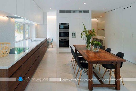کابینت های چوبی برای آشپزخانه های بزرگ