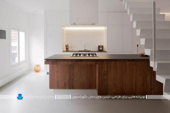 طراحی و تزیین دکوراسیون آشپزخانه با کابینت ام دی اف mdf