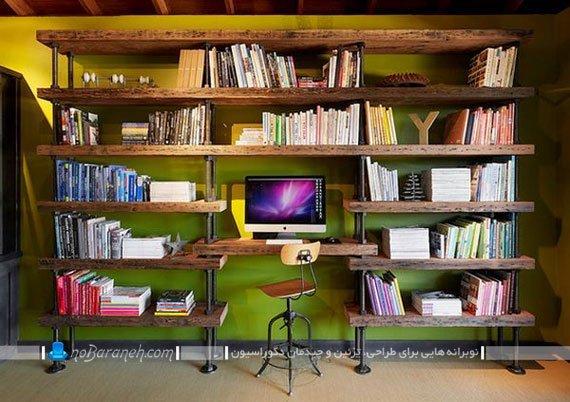 قفسه بندی تخته ای و فلزی