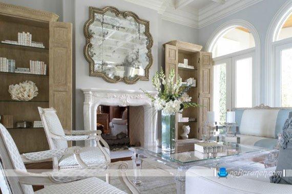 آینه دیواری کلاسیک و قاب دار