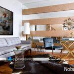 تزیین دکوراسیون داخلی اتاق پذیرایی و نشیمن با آینه