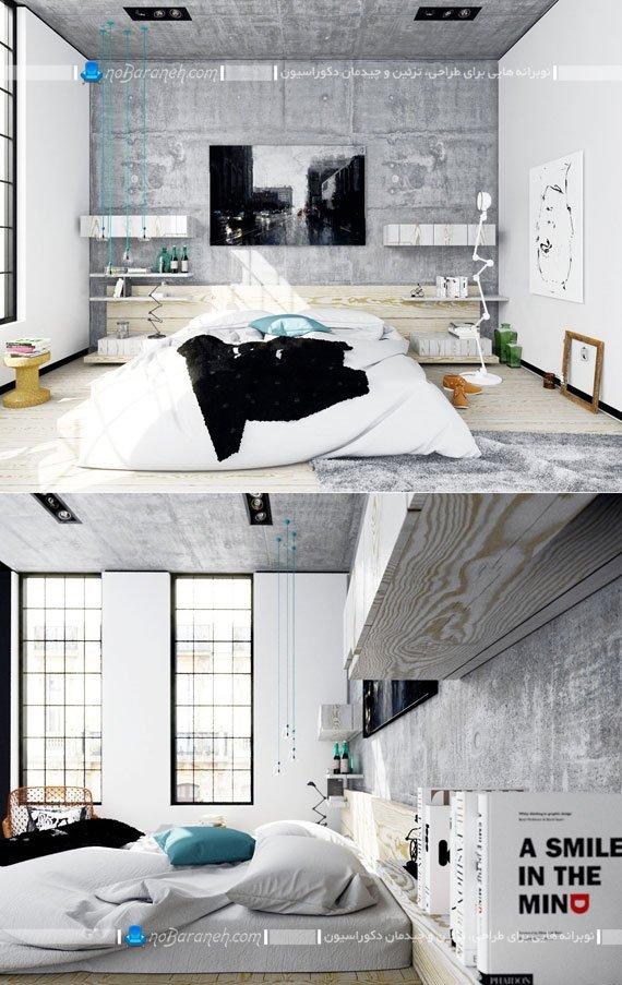 تزیین دیوار پشت تخت خواب با تابلو