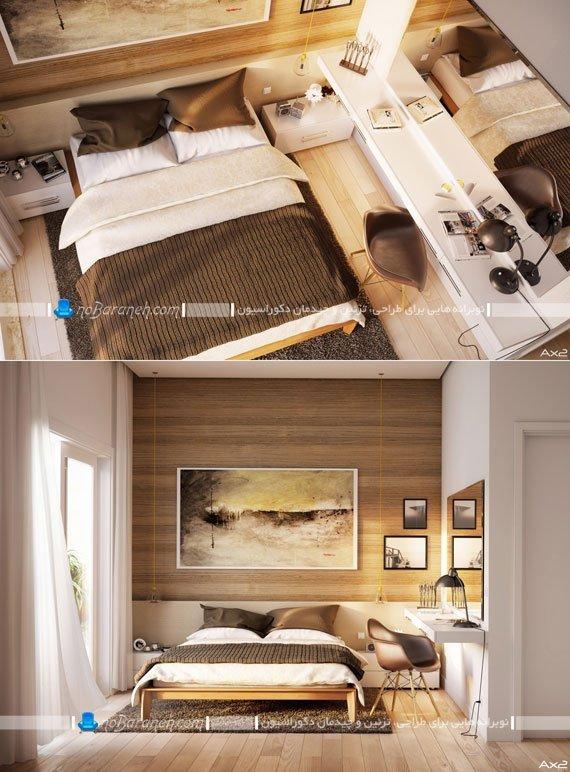 تزیین بالای تخت خواب عروس با تابلو