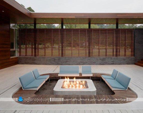 طراحی حیاط خانه ویلایی