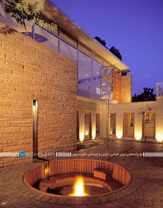 طراحی و اجرا بخش نشیمن در دکوراسیون فضای خارجی خانه