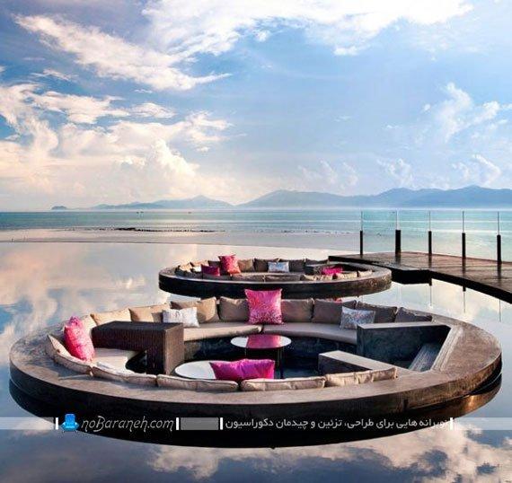 طراحی جدید اتاق پذیرایی های جزیره ای