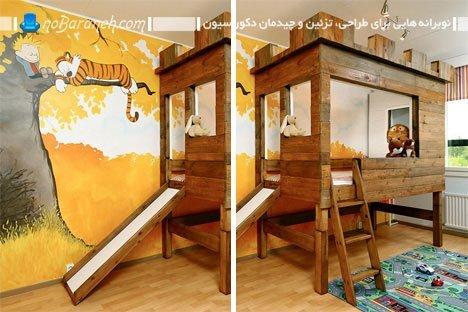 طراحی دکوراسیون پسرانه اتاق بچه