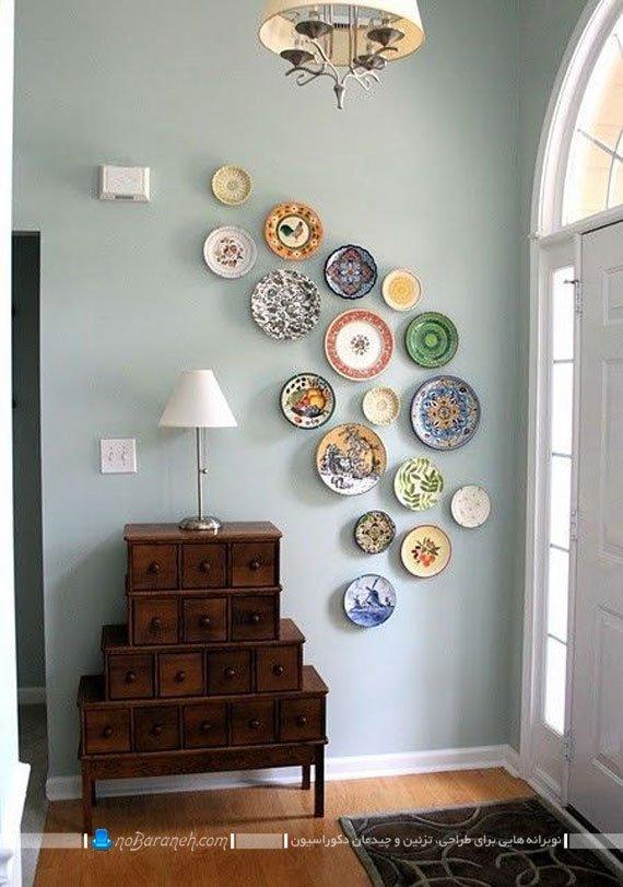 تزیین دیوار منزل با ظروف چینی