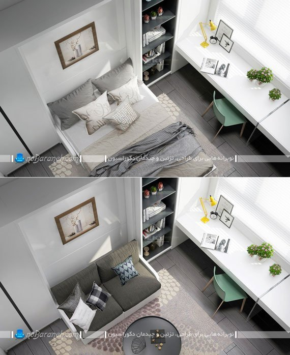 تابلو برای دیوار تخت خواب تاشو