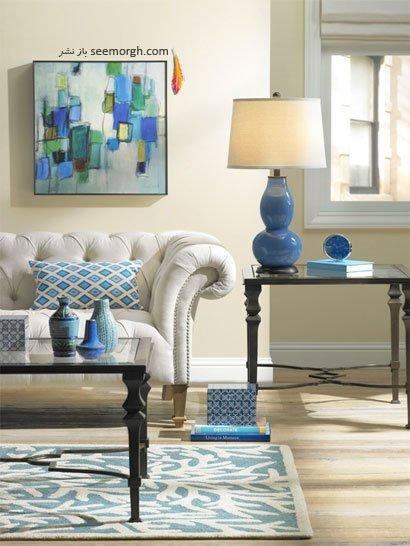 طراحی و تزیین دکوراسیون خانه با رنگ آبی