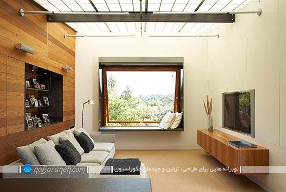 باکس چوبی و شلف برای نصب کنار تلویزیون