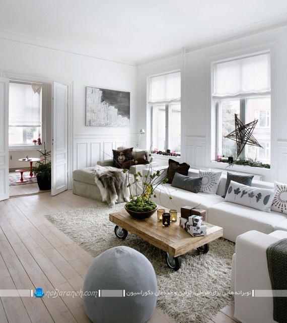 دیزاین اتاق پذیرایی با سیاه و سفید