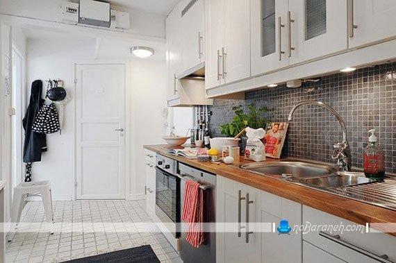 طراحی دکوراسیون سیاه و سفید آشپزخانه