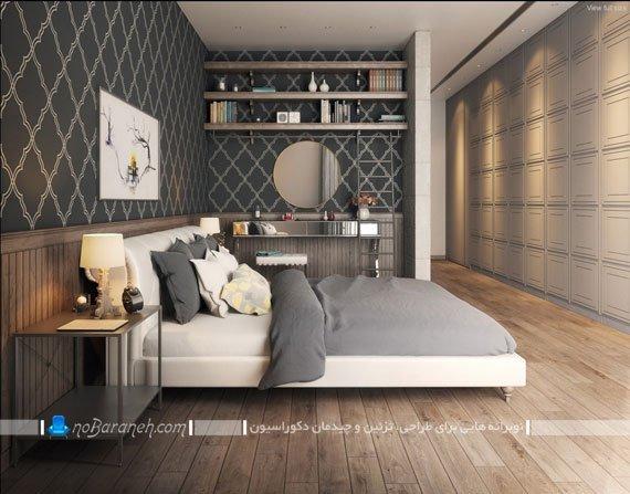 تزیین دیوار پشت تخت خواب با تابلو مدرن