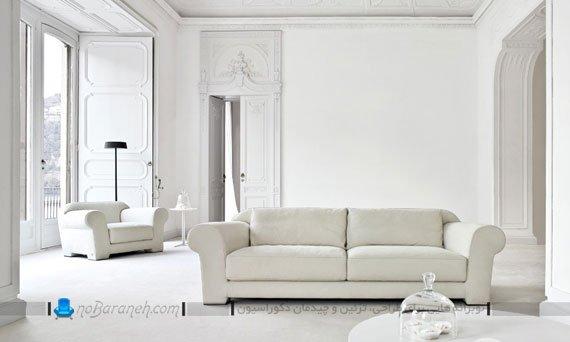 مدل کاناپه راحتی ایتالیایی 2 نفره با طرح و مدل ساده