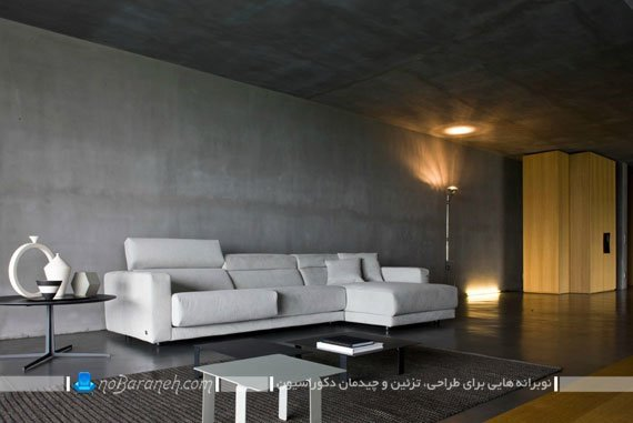 کاناپه و مبلمان راحتی ایتالیایی با رنگ سفید