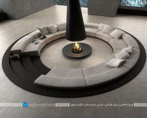اتاق پذیرایی و نشیمن با معماری مدرن