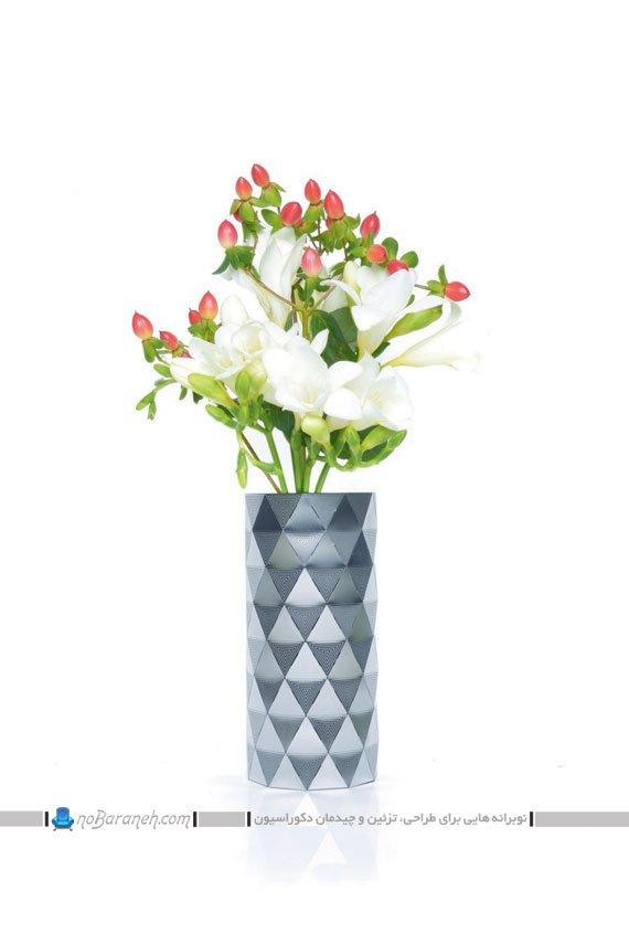 مدل گلدان و گل مصنوعی