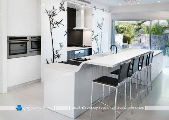 اپن جدید آشپزخانه مدل های جدید میز اپن مدرن صندلی میز ناهارخوری اپن میز ناهار خوری جزیره ای
