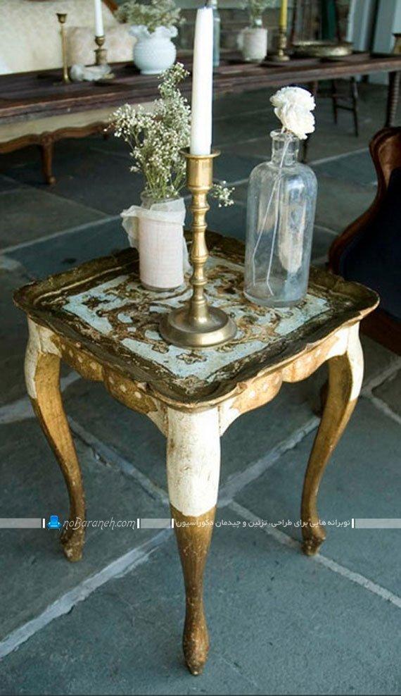 میز عسلی چوبی طرح سنتی