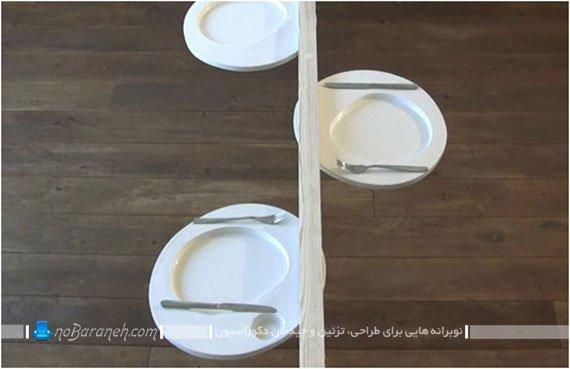 میز غذاخوری کوچک چوبی