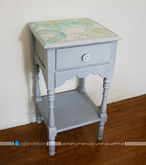 بازسازی و رنگ زدن میز قدیمی