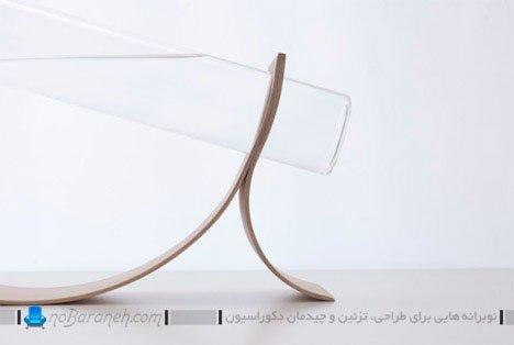 پارچ آب چوبی و شیشه ای