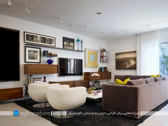 دیزاین دیوار و فضای اطراف تلویزیون